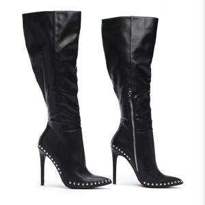 FashionNova studded boots size 7